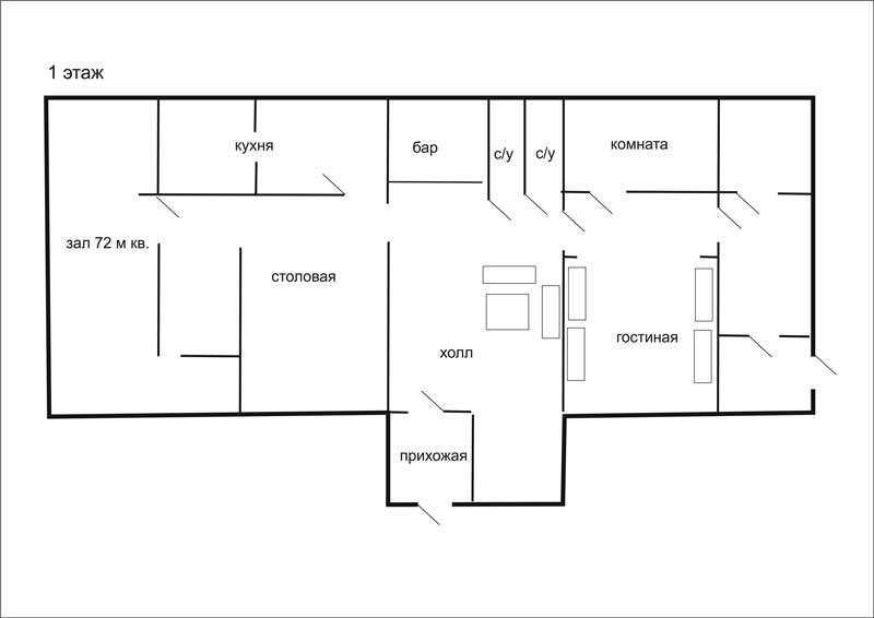 Схемы коттеджа по этажам